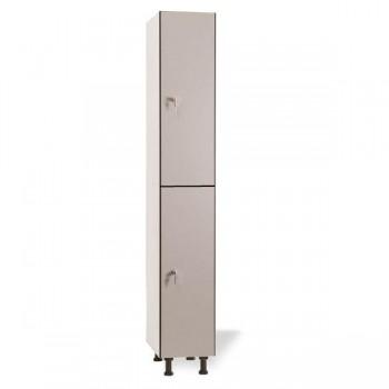 Taquigrup Taquilla simple fenólica con perfil de aluminio 30 cm ancho 2 puertas de altura