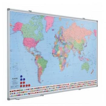 Mapa Mundi magnético 80X134cm