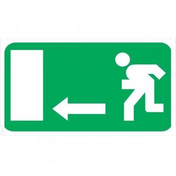 Placa fotoluminiscente salida emergencia izq sin texto A4