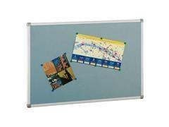 Tablero anuncios corcho 5mm tapizado y soporte de 7 mm marco aluminio 60X90cm azul