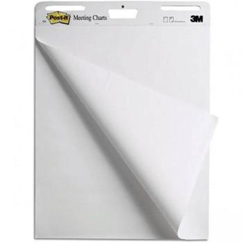 Bloc papel Pizarra 3M Post-it 30h lisas 77,5x63,5cm
