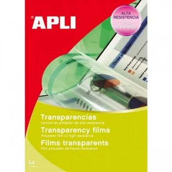 Caja 20 transparencias para Ink-jet APLI A4 banda superior