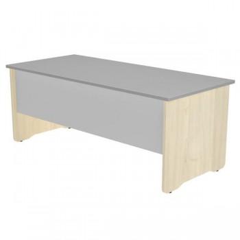 Mesa rectangular serie Work 180x80x72cm. haya/gris