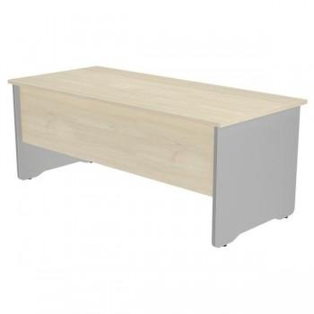 Mesa rectangular serie Work 200x80x72cm. aluminio/haya