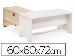 Ala mesa para serie Work 60x60x72 cm. haya/haya