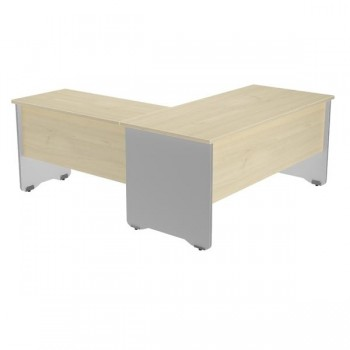 Ala mesa para serie Work 60x60x72 cm. aluminio/haya