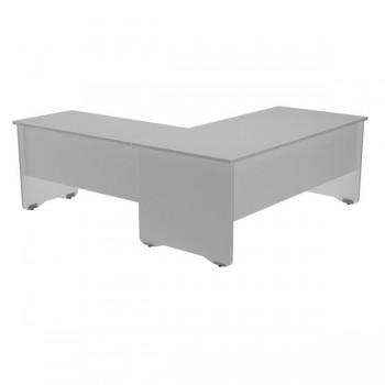 Ala mesa para serie Work 60x60x72 cm. aluminio/gris