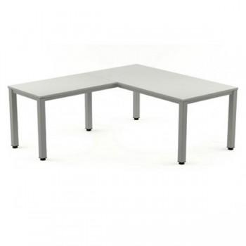 Ala mesa para serie Executive 60x60x72-77 cm blanco/gris
