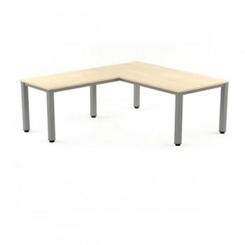 Ala mesa para serie Executive 60x60x72-77 cm aluminio/haya