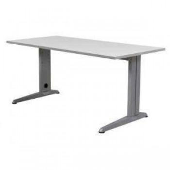 Mesa rectangular serie Metal 120x60x72cm. aluminio/gris
