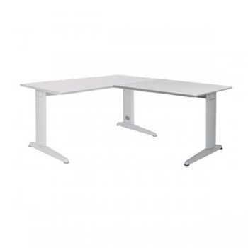 Ala mesa para serie Metal 60x60cm.aluminio/gris