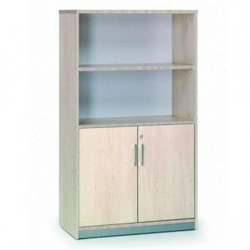 Armario puertas bajas + 1 estante 90x156x45cm. haya/haya