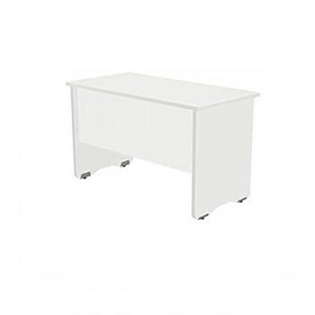 Mesa rectangular serie Work 140x80x72cm. blanco/blanco