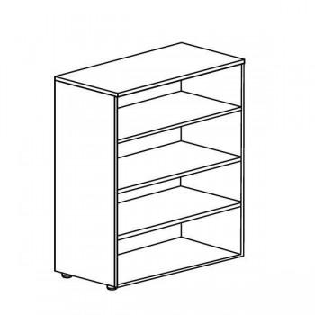 Armario librería serie Premier estructura melamina color blanco 75x40x80cm.