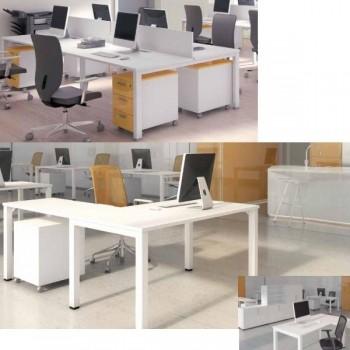 Ala para mesa y buc serie Nova color roble 120x60x75cm.
