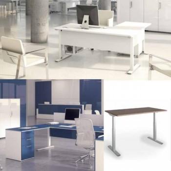 Ala para mesa+buc serie Iog in encimera blanco 120x60x75cm.