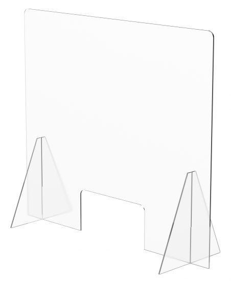 Mampara de protección A.2000 metacrilato transparente 750x850mm