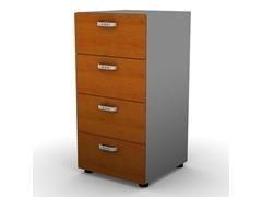 Armario 4 cajones estantes 43x56x86cm melamina