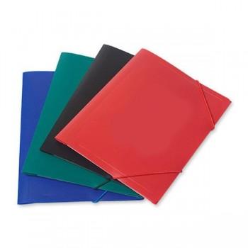 DOSSIER Carpeta carton solapa + elastico mate FOLIO AZUL