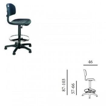 Silla-taburete industrial giratorio elevación mecánica sin respaldo tapizado 1