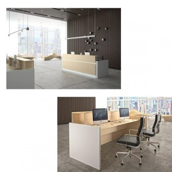 Ofitres Frontal decorativo serie Avant color roble para mostrador 160cm