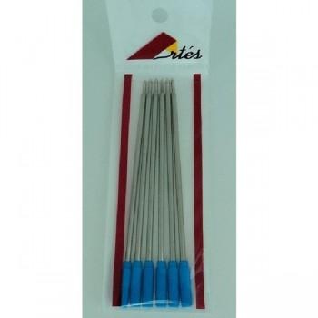 ARTES Bolsa de 6 recambio bolígrafo tipo cross azul