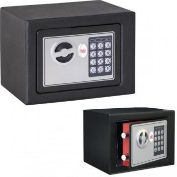 Caja seguridad electrónica pequeña BTV 4 kg 17x23x17cm negro