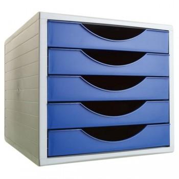 Módulos 5 cajones archivotec azul opaco