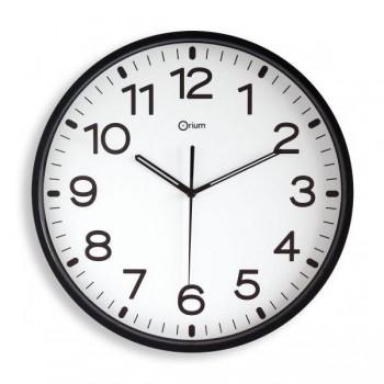 Reloj de pared analógico de  30 cm negro