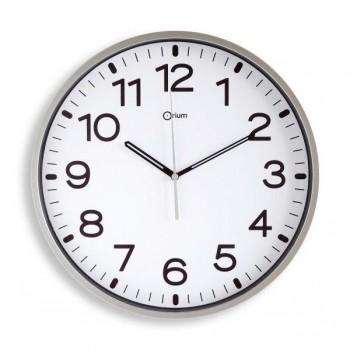 Reloj de pared analógico de  30 cm plata