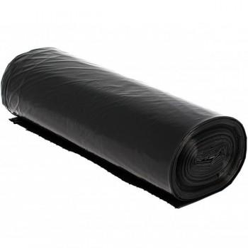 Rollo de 10 bolsas basura negra alta densidad 80x105 cm