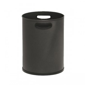 Papelera métálica con asas alto 395mm diám. 29,5 capacidad 27 litros color negro