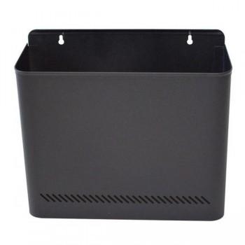 Papelera metálica de pared 285x325x125mm capacidad 11 litros color negro