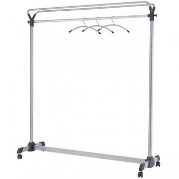 Perchero portátil con barra transversal 170x150x50 cm