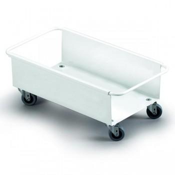 Carrito metal 4 ruedas 18x47x26cm color blanco