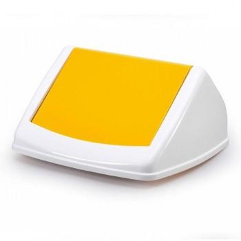 Tapa para contenedor Durabin 40 litros 17x31,5x32,5cm color amarillo
