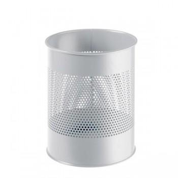 Papelera metálica redonda Durable 15 litros negro