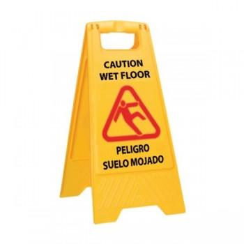 Pull Señal de aviso suelo mojado 30x42x62 cm.