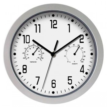 Poessa Reloj de oficina marco verde 30 cm diám.