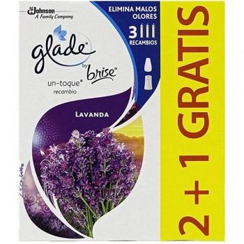Glade Absorbe olores Glade 2 recambios + 1 gratis 10 ml lavanda