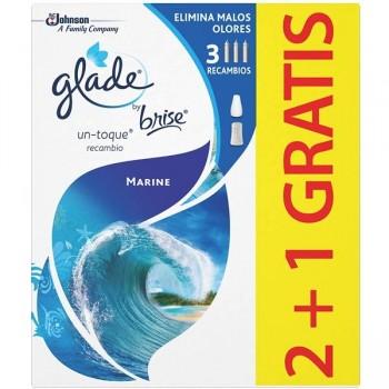 Glade Absorbe olores Glade 2 recambios + 1 gratis 10 ml marine