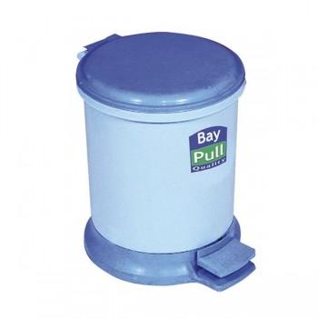 Pull Papelera con pedal 8l. 34x28x35 cm azul y gris