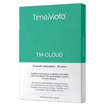 Safescan Software TimeMoto Cloud Suscripción 12 meses para 25 usuarios. Caja retail.