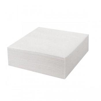 Bunzl Paquete de 100 servilletas blancas doble capa 30x30cm.
