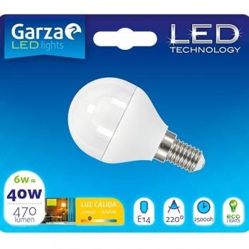 Garza Bombilla led esf 6w E14 220º