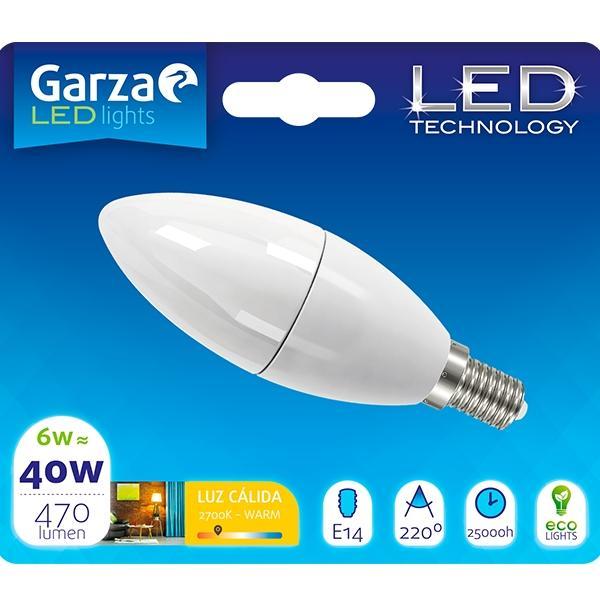 Garza Bombilla led esf 6w E14 190º