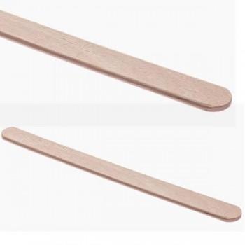 Bunzl Paquete 100 paletinas madera embolsadas 105mm
