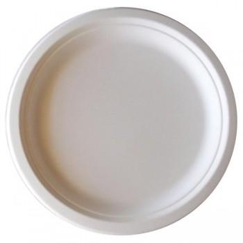 Bunzl Paquete 400 platos compostables de bagazo 26cm