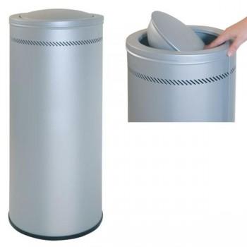 Sie Papelera metálica perforada acero 57 l. 76x 31 cm.