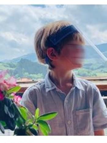PARDO Pantalla protectora facial para niños azul